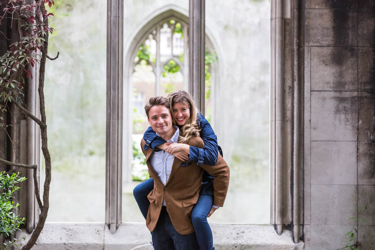 London engagement photoshoot in St Dunstan-in-the-East