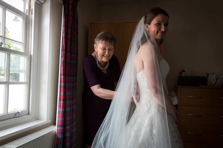 Mum helps out during Becky's bridal preparations